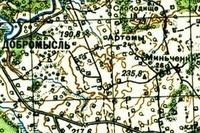 Карта южной части Лиозненщины 1921-1925 год