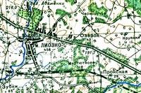 Карта северной части Лиозненщины 1921-1929 год