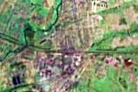 Лиозно - вид с высоты 20 километров