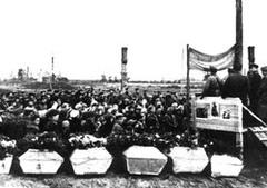 Траурный митинг. Прощание с бойцами, павшими в боях за город Лиозно