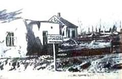 Лиозно: разрушенный фашистами город при отступлении в октябре 1943 года. ул. Шоссейная