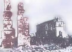 Лиозно: разрушенный фашистами город при отступлении в октябре 1943 года.
