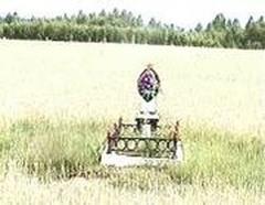 Лиозно: Памятник одному из 29-ми тысяч погибших воинов освободителей (03.04.2004)